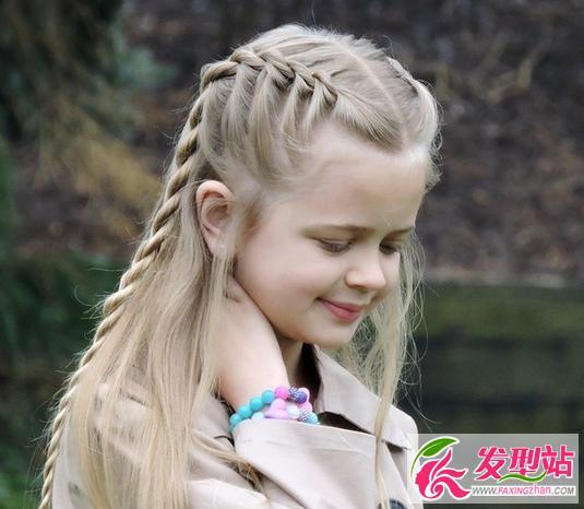 儿童节扎发编发发型 小女孩长发编发图片大全
