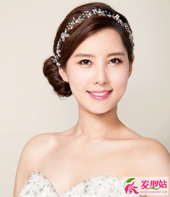 2016韩国新娘妆发 韩范时尚新娘发型图片图片