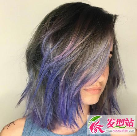 炫彩染发流行色盘点 彩虹染发颜色图片大全图片