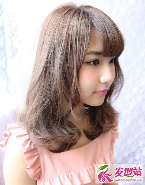中长发烫什么发型好看 韩式时尚中长发卷发烫发图片