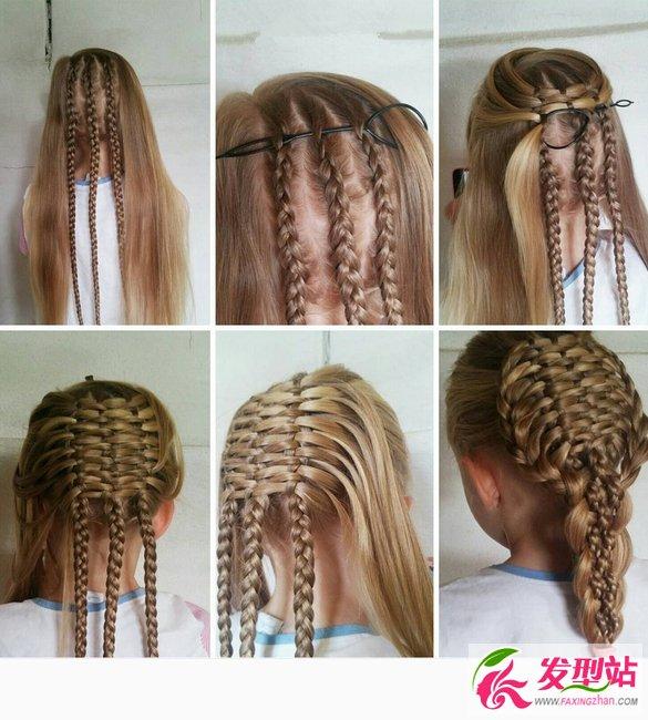 小公主扎发发型教程 精致儿童编发图解教程