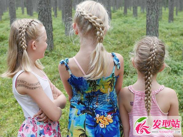 小女孩公主头编发 儿童编发发型图片100例-小女孩儿童编发发型图片欣