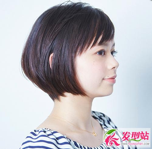 女生短发后面发型_圆脸女生剪短波波头 圆脸女生适合的短发发型-发型脸型-发型站 ...