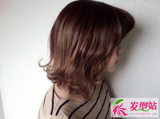 灰色冷棕色染发发型 2017流行女生染发颜色图片