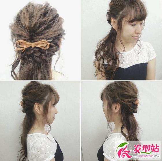 中学生小清新扎发教程 小女生可爱扎发发型图片图片