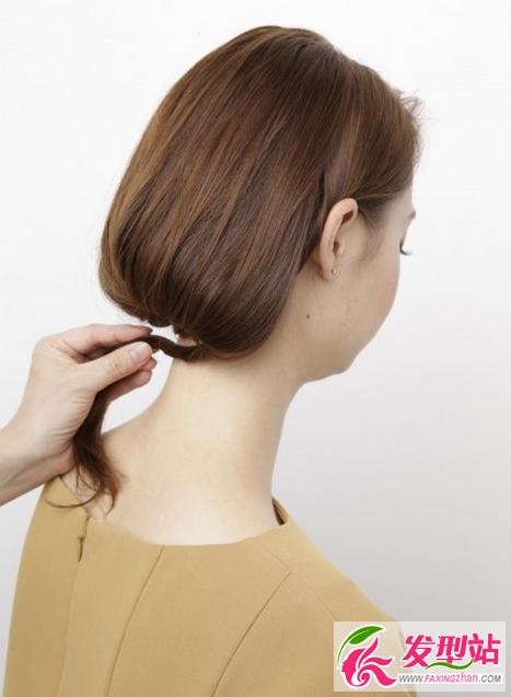长发变短发扎法图解 不用剪刀一秒钟长发变波波头图片