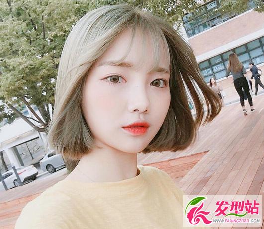 百搭韩式女生短发 2017流行短发发型图片图片