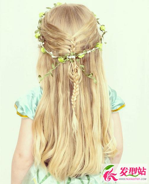 小女孩简单扎头发大全-学梳头发小女孩的发型,5岁儿童扎头发简单好看图片