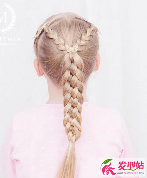 今年流行的儿童发型 40款最美小女孩编发扎发图图片