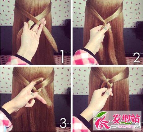 袜子发型编发教程环扣结图解气质编发女生上的短头发怎么去掉图片
