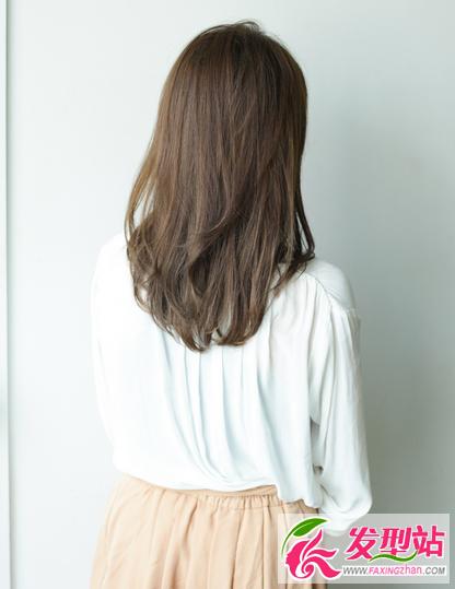 脖子后面长头发-知性韩范中长发烫发 中长发好看气质烫卷发