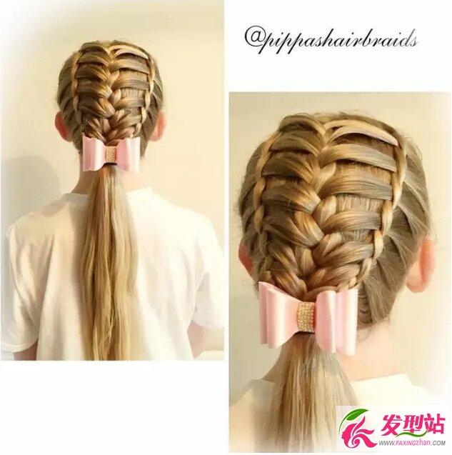儿童创意编发发型 小女孩长发扎发图片