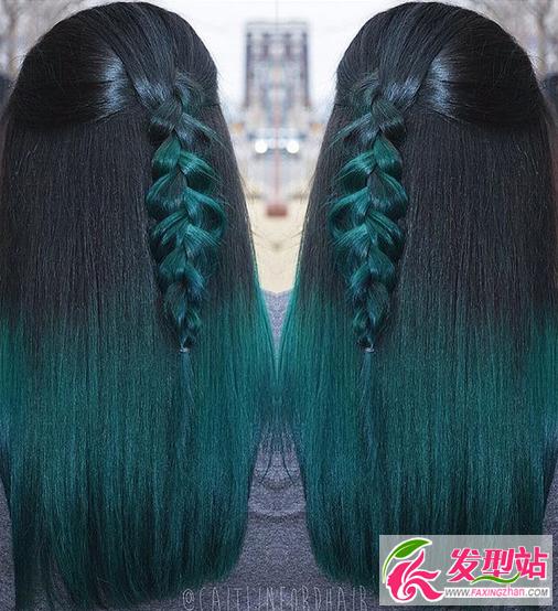 绿色染发好看吗?绿色头发效果图大全 染发发型 发型站 最新流行发型设计发型图片与美发造型门户网