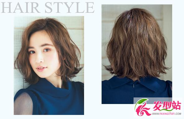 发型站 发型设计 最新发型  齐耳短发波波头发型,纹理烫蓬松显瘦,搭配图片