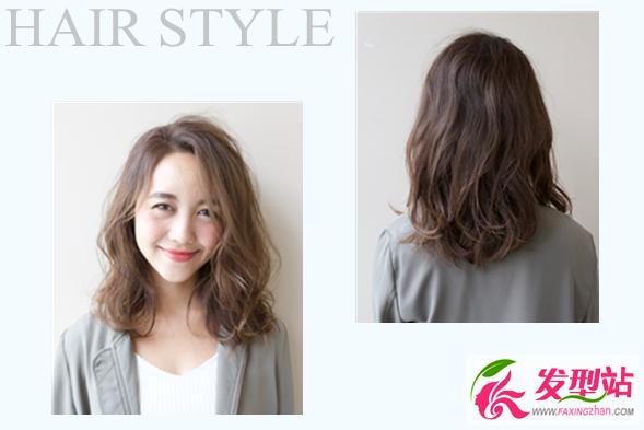 中长发烫发微卷发-中长发最新烫发大全 2017女生韩式烫发造型图片
