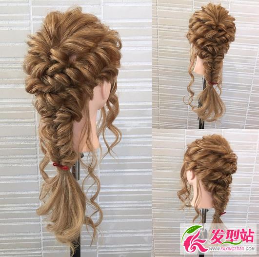 新娘发型图解教程 简单韩式新娘编发盘发步骤图片