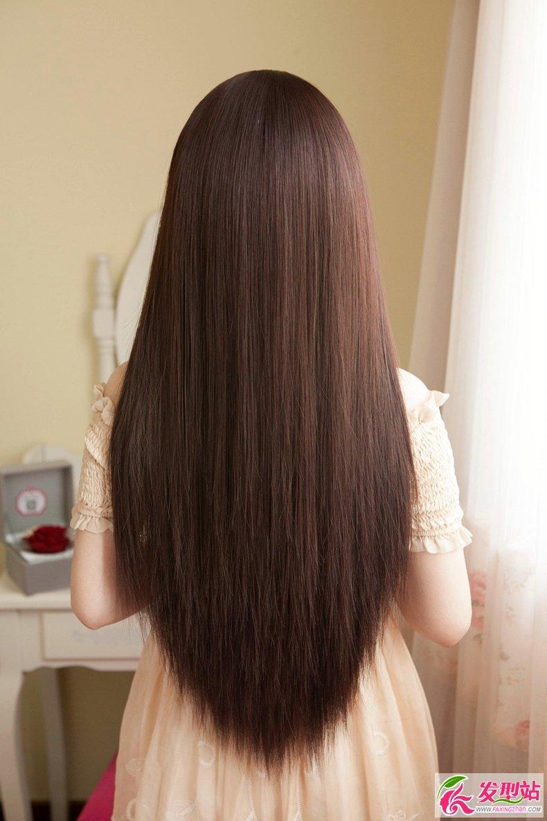 韩式女生长直发染发图片图片