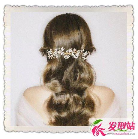 韩式时尚新娘妆发-九款时尚韩式新娘发型 2017西式婚礼新娘发型图片