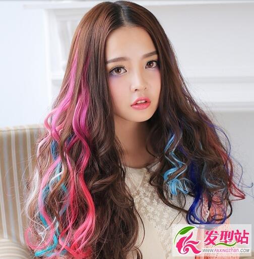 女生最爱的长发染发 挑染染发发型最时髦图片
