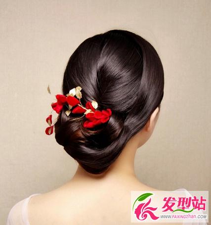 新中式新娘发型设计 现代中式婚礼新娘发型图片