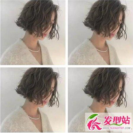 最新流行短发颜色凌乱卷发型短发白头发怎么染不上女生图片