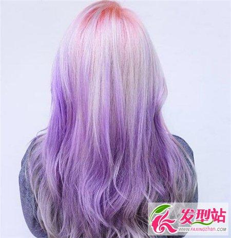 2017渐变染发丨紫色渐变-渐变染发2017汇总 最新流行染发发型图片
