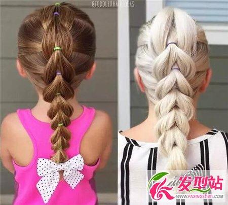 小女孩编发发型 五岁儿童发型设计图片