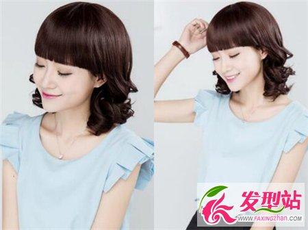 韩式中长梨花头 2017年最受欢迎发型-女生短发-发型站图片