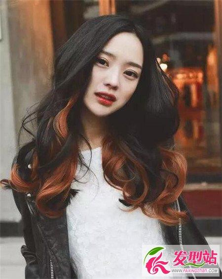 春夏长发 大卷烫 韩式个性烫发发型图片