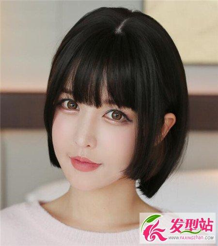 可爱学生波波头 二次元甜美短发-bobo发型-发型站_与.图片