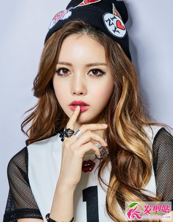 韩式发型妆容