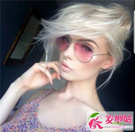 欧美爆款流行发型 酷炫风超短发图片