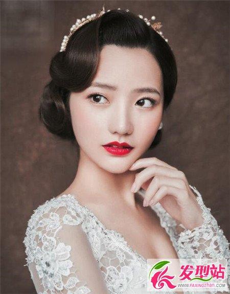发or编盘发 韩式新娘发型设计图片