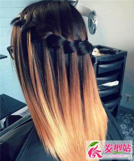 直发披发半编发 直发波西米亚发型图片