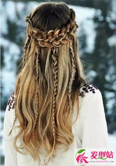 长发伴娘发型图片 欧美优雅伴娘发型 新娘发型 发型站 最新流行发型设计发型图片与美发造型门户网