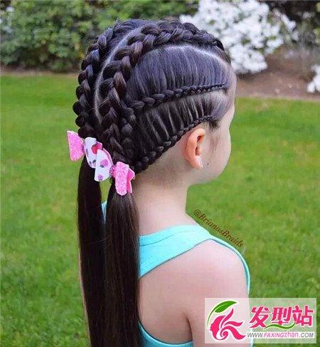 儿童花样编发款式 小女孩编发100例-儿童发型