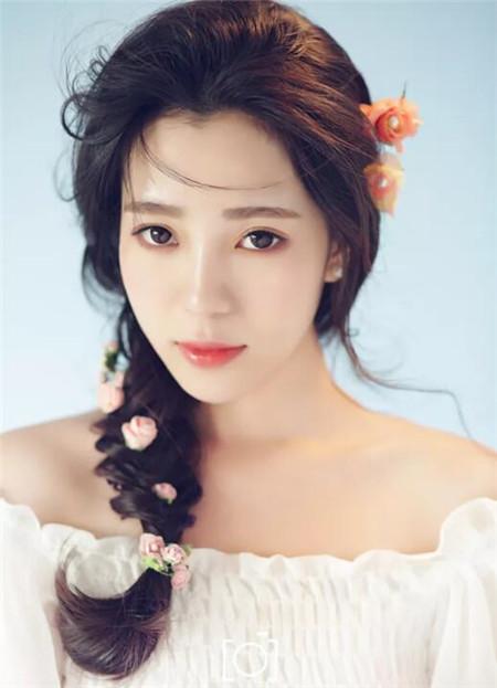 韩式长发发型新娘款款亮眼唯美仙幻中气质中分v长发图片图片