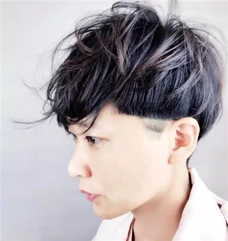 一边剃铲青超短发