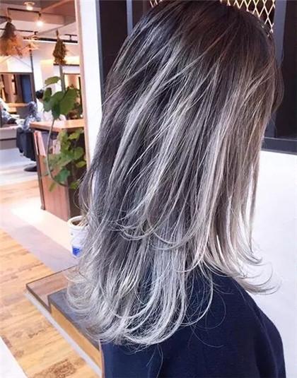 外翘挑染渐变染 发色单一也时尚-时尚发型-发型站_与.图片