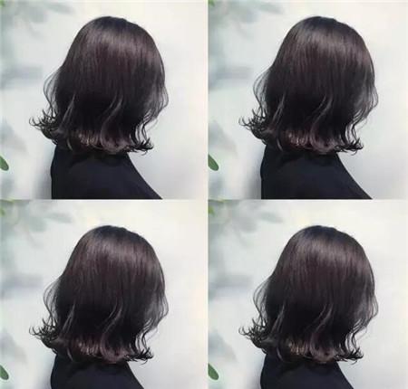 齐肩外翘短发染发