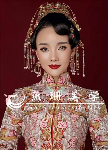 秀禾新娘造型 古典中式婚礼写真-场合发型-发型图片