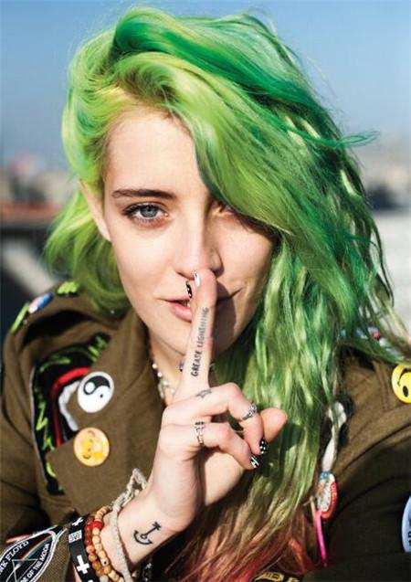 绿色染发发色