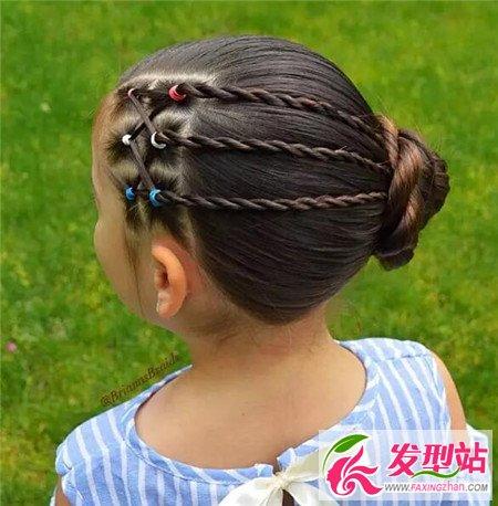 小女孩发型绑扎方法 漂亮又简单可爱