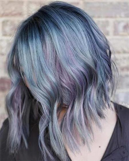 牛仔蓝染发