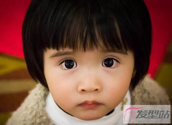 女童短发头发型萌度爆表惹人爱韩国烫发图片女娃娃图片