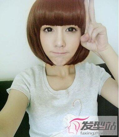 娃娃头发型一款让你剪了上瘾的发型扎发短发图片图片