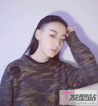 女生剃头发型两边抖音 时尚吸睛诠释中性风-非主流-站图片