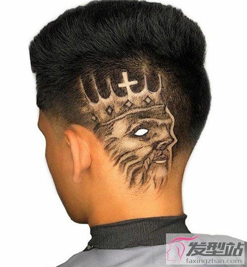 给你的头发纹个身 个性男生雕刻发型图片
