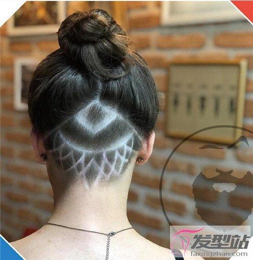 女生后部雕刻发型 个性前卫刻发图片图片