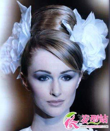 发还4款图片时尚新娘颜色花朵染过黑色的头可以打造染别的发型吗图片